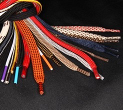 Laces and cords for shoes in big variety of qualities and colors